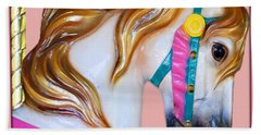 Bath Towel featuring the painting Carrousel Horse by Jennifer Muller