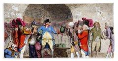 Cartoon British Debt, 1786 Bath Towel