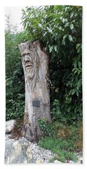 Carved Tree Bath Towel