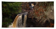 Cascade River Bath Towel by James Peterson