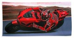 Casey Stoner On Ducati Bath Towel