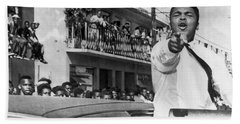 Cassius Clay In Football Parade Hand Towel