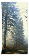 Union Creek Oregon Prescribed Burn Hand Towel by Diane Schuster