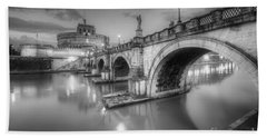 Castel Sant' Angelo Bw Hand Towel