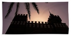 Bath Towel featuring the photograph Castell Dels Tres Dragons ... by Juergen Weiss