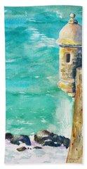 Castillo De San Cristobal Ocean Sentry  Hand Towel