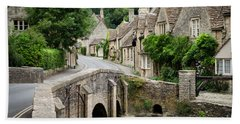 Castle Combe Cotswolds Village Bath Towel