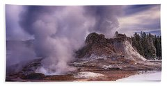 Castle Geyser Hand Towel