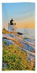 Castle Hill Lighthouse 1 Newport Hand Towel
