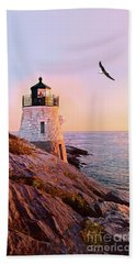 Castle Hill Lighthouse 2 Newport Hand Towel