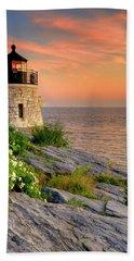 Castle Hill Lighthouse-rhode Island Bath Towel
