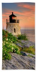 Castle Hill Lighthouse - Rhode Island Bath Towel