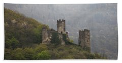 Castle In The Mountains. Hand Towel by Clare Bambers
