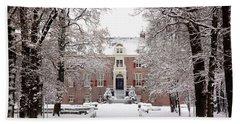 Castle In Winter Dress  Hand Towel