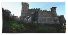 Castle Of Love Hand Towel by Laurie Search