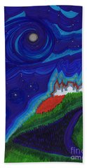 Castle On The Cliff By Jrr Hand Towel