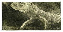 casual meeting Reptile Viviparous Lizard  Lacerta vivipara Hand Towel