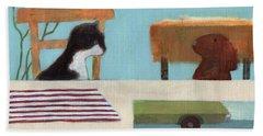 Cat And Bunny Bath Towel