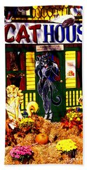 Cat Cat House Bath Towel by Paul W Faust -  Impressions of Light