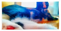 Cat Feet Bath Towel by Derek Gedney