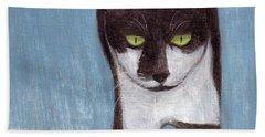 Cat In Winter Hand Towel