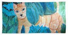 CAT Hand Towel by Sandy McIntire