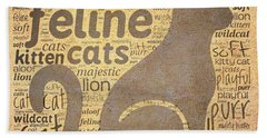Cat Typography Bath Towel
