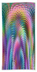 Hand Towel featuring the digital art Cathedral by Mariarosa Rockefeller