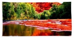Cathedral Rock Sedona Arizona Hand Towel by Bob and Nadine Johnston