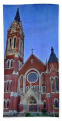 Cathedral Shrine Of Our Lady Of Guadalupe Bath Towel