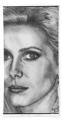 Catherine Deneuve In 1976 Bath Towel by J McCombie