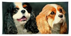 Cavalier King Charles Hand Towel by Diana Angstadt