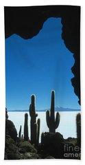 Cave And Cacti Incahuasi Island Hand Towel