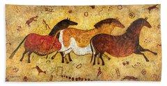 Cave Horses Hand Towel