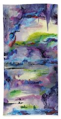 Cave Painting Bath Towel by Regina Valluzzi