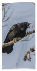 Caw Hand Towel by Charlie Duncan