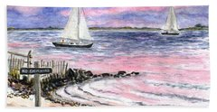 Cedar Beach Pinks Hand Towel