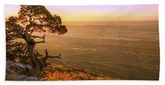 Cedar Tree Atop Mt. Magazine - Arkansas - Autumn Hand Towel by Jason Politte