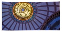 Bath Towel featuring the photograph Ceiling In The Chattanooga Choo Choo Train Depot by Susan  McMenamin