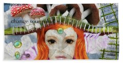Hand Towel featuring the digital art Celebrate Who You Are by Barbara Orenya