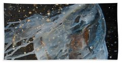 Bath Towel featuring the painting Celestial Stallion  by Jani Freimann