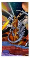 Celestian Dragon Hand Towel by Glenn Holbrook