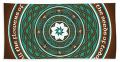 Celtic Lotus Mandala Hand Towel