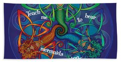 Celtic Mermaid Mandala Hand Towel