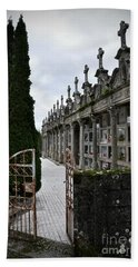 Cemetery In A Small Village In Galicia Bath Towel by  RicardMN Photography