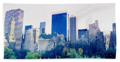 New York In Motion Hand Towel by Shaun Higson