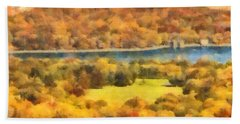 Central Park Watercolor Hand Towel
