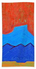 Cerro Pedernal Original Painting Sold Bath Towel