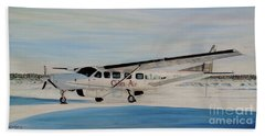Bath Towel featuring the painting Cessna 208 Caravan by Marilyn  McNish
