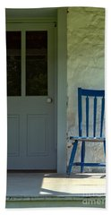 Chair On Farmhouse Porch Hand Towel